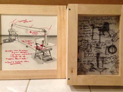 Beginning Drawing at UCSD, Diptych (Mixed Media)