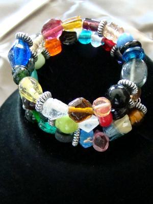 #6 Ceramic beads and glass