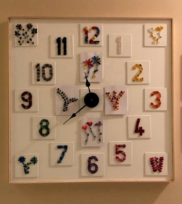 Quilling The Hours Away Clock