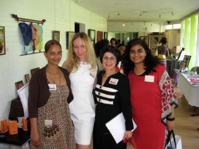with friend artist  Irena Bavilova