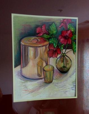 Copper still life with mat