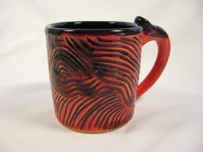 101115.A Red Sail Boat Mug