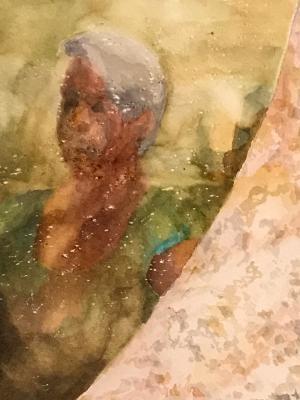 Self-portrait in Stone Mirror