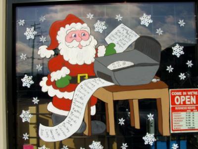 Santa at copy machine