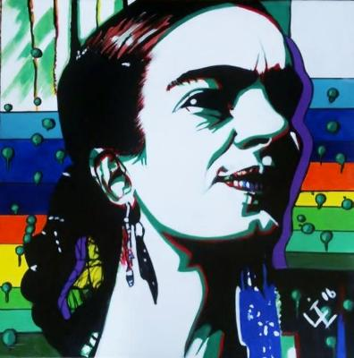 Psychedelic Frida paintinf 4 of 10 Fun Frida Commissions