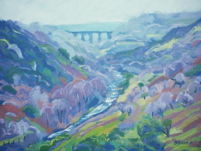 View of Meldon viaduct, West Dartmoor