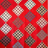 Vintage Quilt with Red sashing