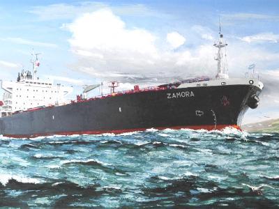 """Ecuadorian oil carrier """"Zamora"""", 120cm x 60cm, 2013"""