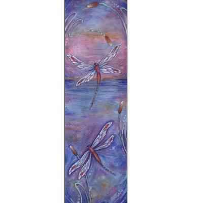 Purple Dragonflies tranquility zen art print
