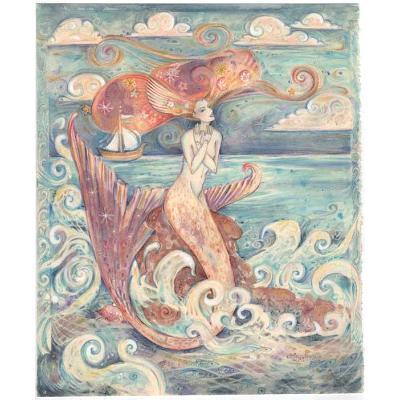 Ulysses Muse original mermaid whimsical fantasy painting Mermaid Art
