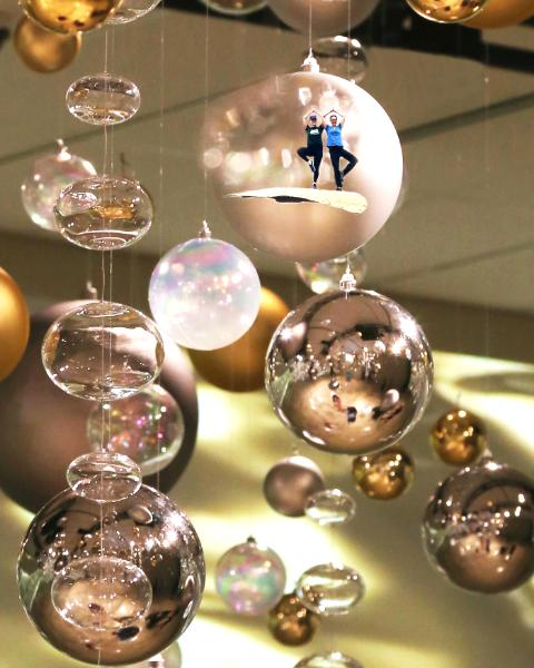 I & J in a Bubble, an original artwork of your child in a bubble