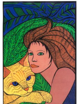 Lady & Cat (sold)