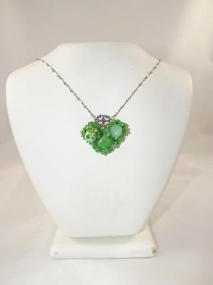 N-85 Green Mosaic Necklace
