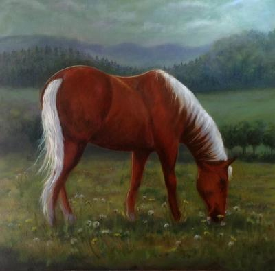 The fields white with glory 36x36 canvas in oils