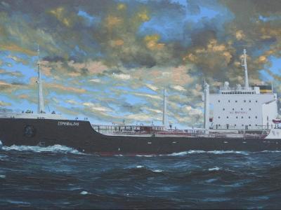 "Ecuadorian oil carrier ""Esmeraldas"", 120cm x 60cm, 2013"