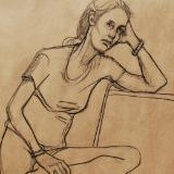 Sheley, Seated Figure