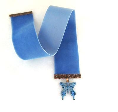 matte butterfly bookmark velvet