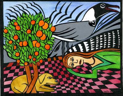 Brenda with Oranges