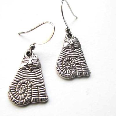 Cat earrings cute kitty earrings jewelry gift for cat lovers