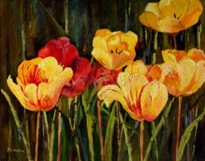 Red & Yellow Tulips SOLD