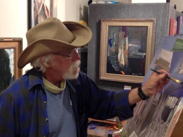 RJ painting in Santa Fe