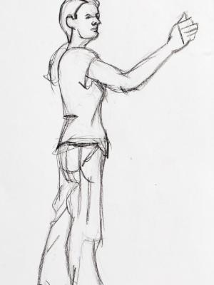 Kat, Standing Gesture