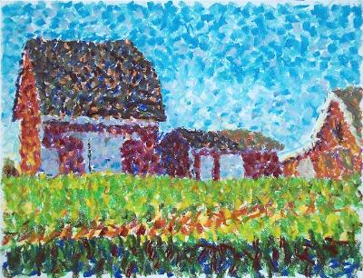 Impressionist Barns