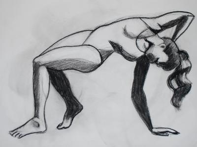 Swimsuit Model Bending
