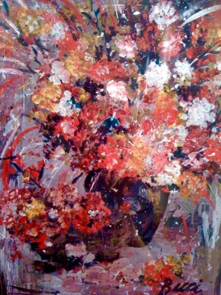 Flowers in abstract