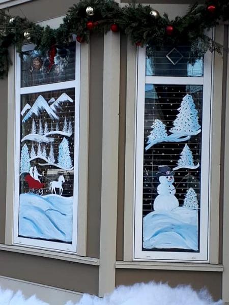Christmas movie window
