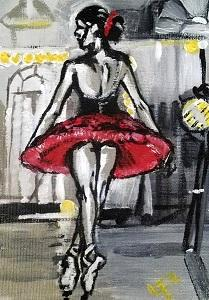 Dancer - Painting 1 for Christmas Family commission