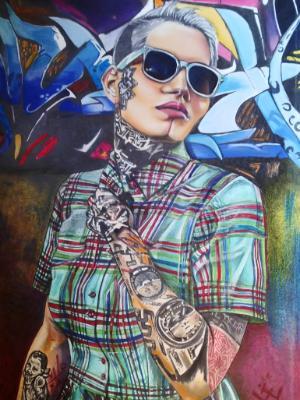 Tattoo & Graffiti Girl