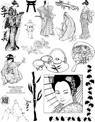 Asian Rubber Stamps - Unmounted