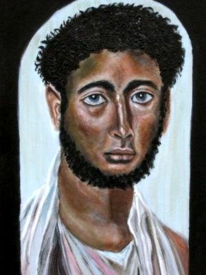 Fayum - coffin portrait