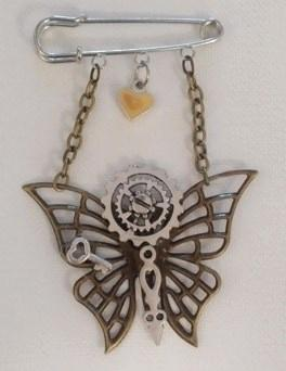 Bar pin with assorted charms
