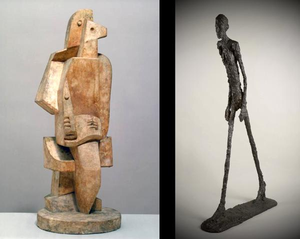 Sculptures by Lipshitz and Giacometti