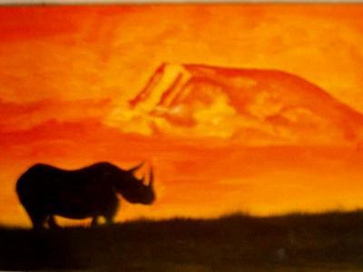 rino at sunset