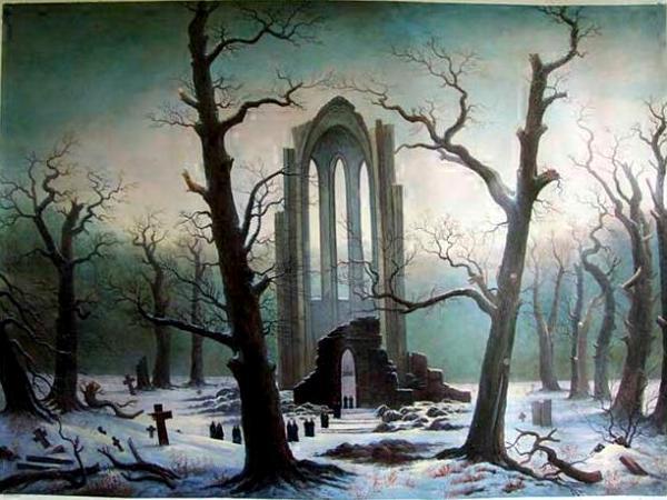 Caspar David Friedrich: Cloister cemetery in the snow