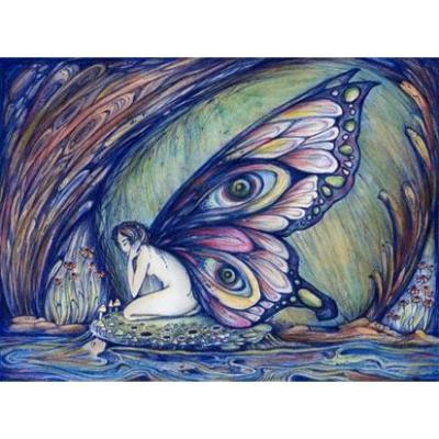Fairy art print from an original painting by Liza Paizis