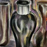 Black vase still life