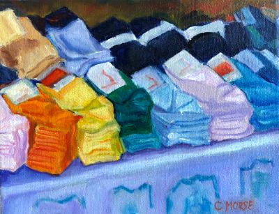 Socks for Sale, Moscow Market