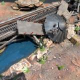 Wrecked Train