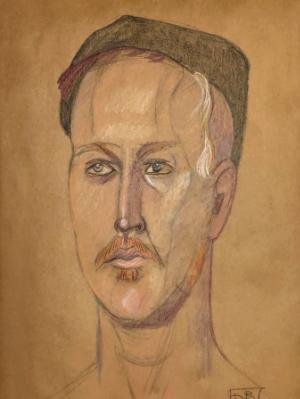 Ira, Color Portrait, with Hat