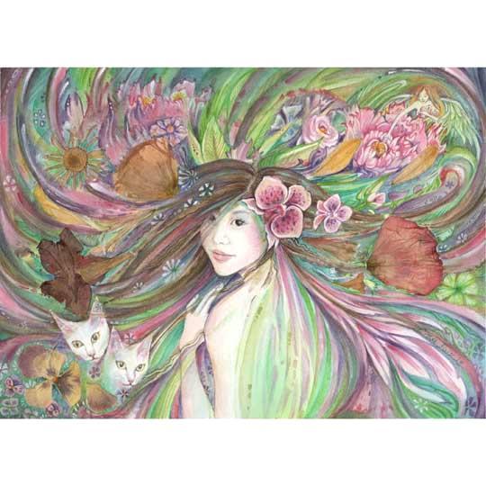 Spring Queen Goddess of Spring original painting