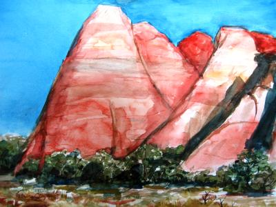 red rock abstract