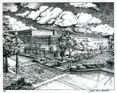 First Street, Sanford, Fl.-pen/ink