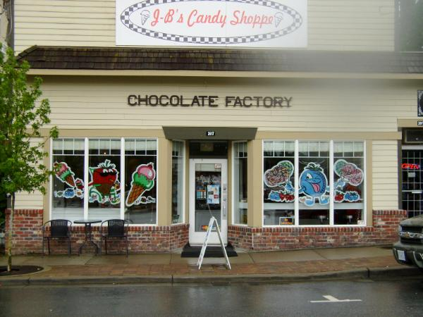 JB Candy Shoppe Berryfest windows