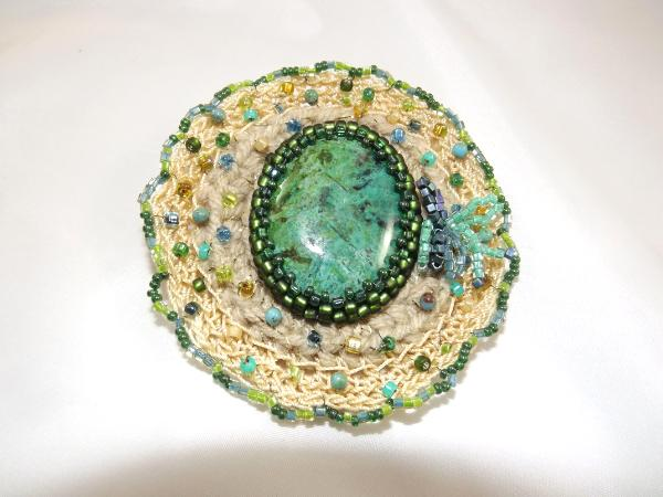 BR-13 Turquoise brooch
