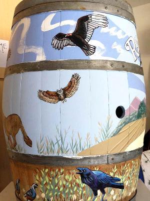 Art & Wine Festival Barrel Side 4