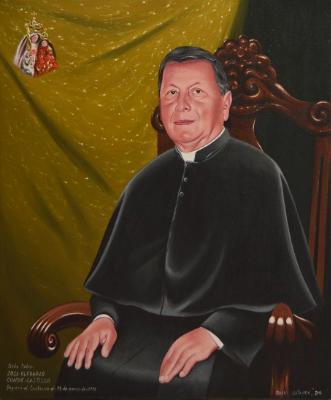 Oil portrait of Father JOSE CONDE, 50cm x 60cm, 2016